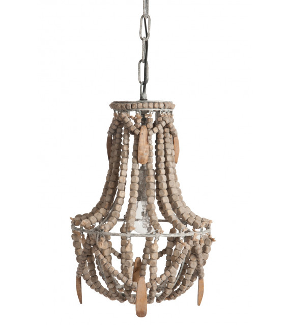 lustre perles de bois. Black Bedroom Furniture Sets. Home Design Ideas